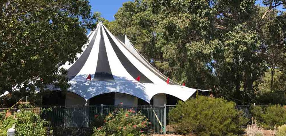 zebra tent lunar circus camping