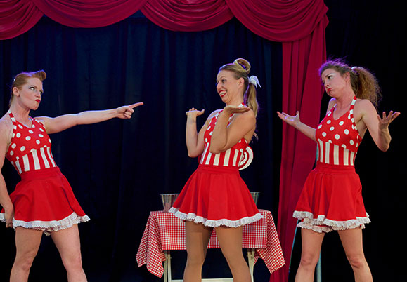 Three of WA's top female circus artists