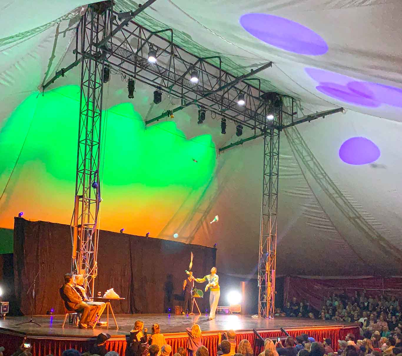 Cabaret show in Lunar Sensation Big Top Marquee Hire Perth Western Australia