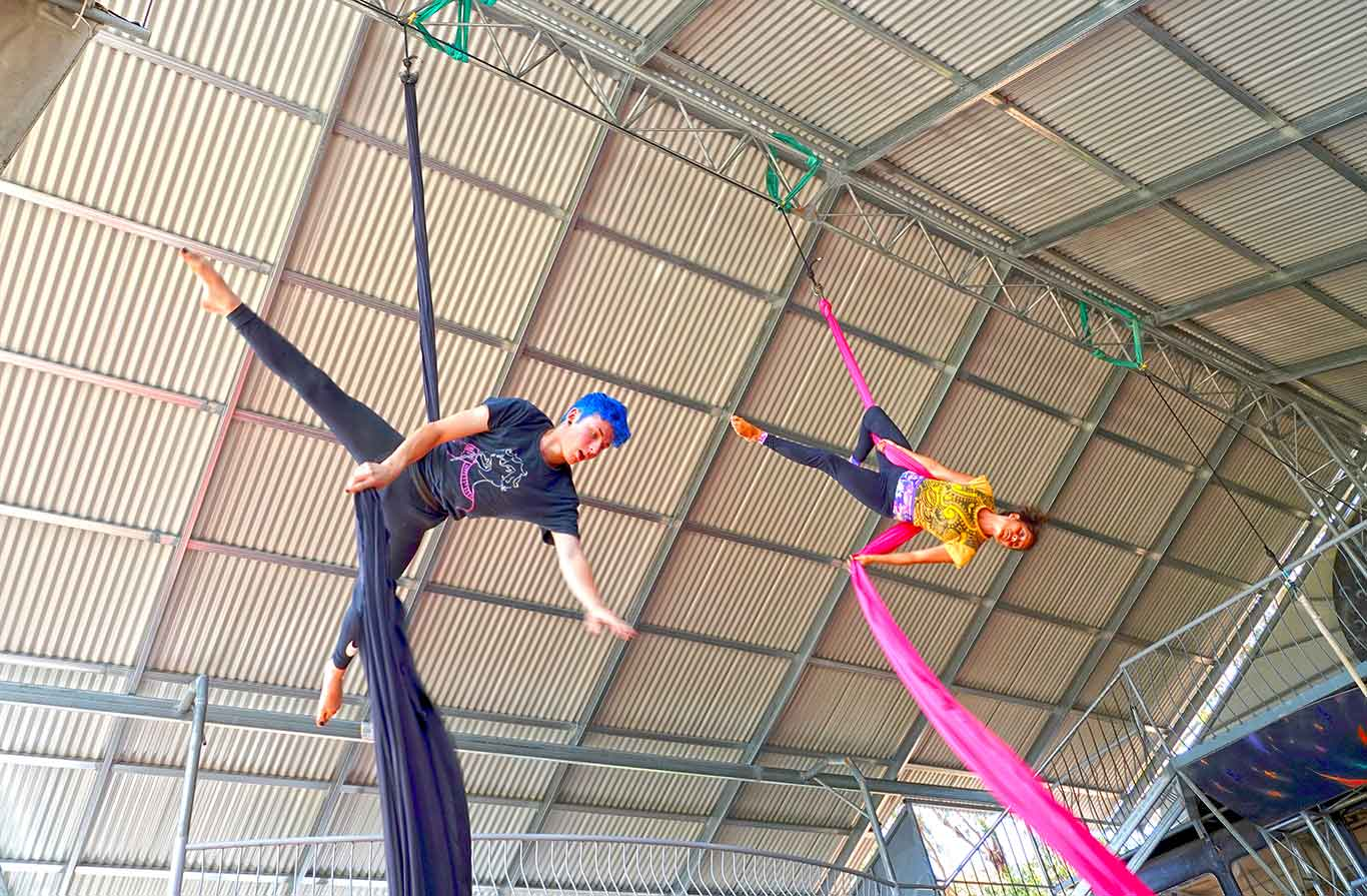 Aerial Training at Lunar Circus International Training Project