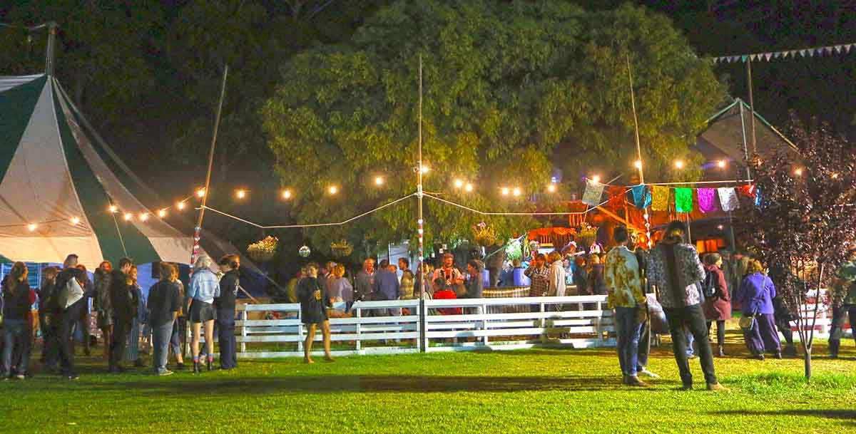 Zebra Tent Lunar Circus Venue for hire at Karnidale Circus Festival