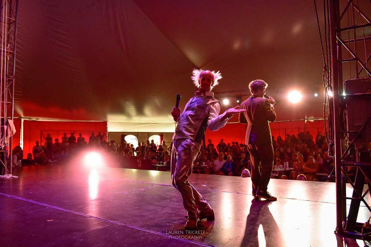 fatt Matt of the Lunar Circus in the international spectacular show, Karnidale festival
