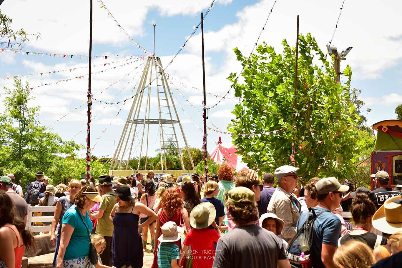 crowds at Karnidale Festival - Lunar Circus Australia