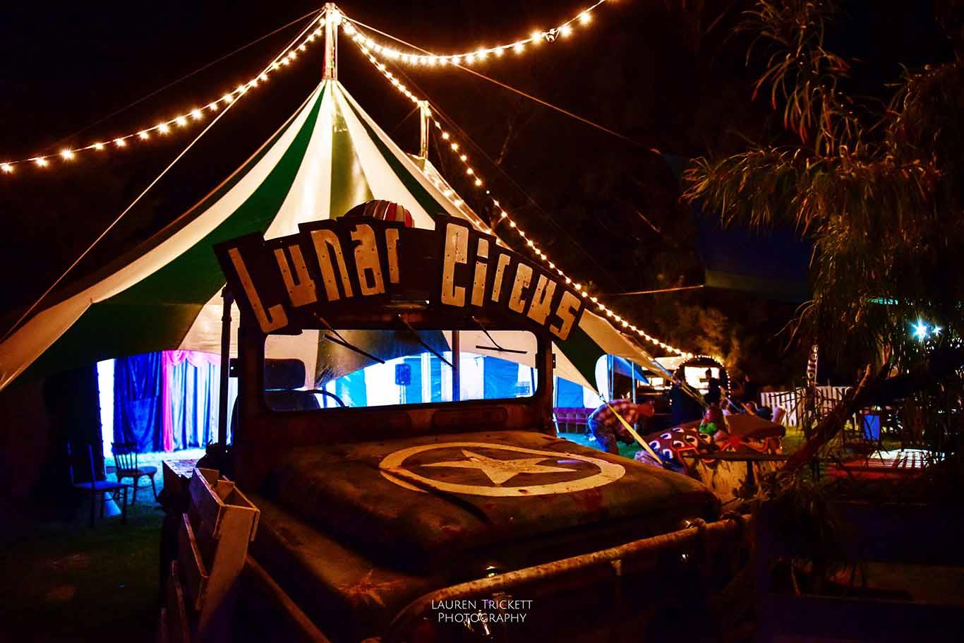 lunar patrol wagon at Karnidale Festival - Lunar Circus, Australia