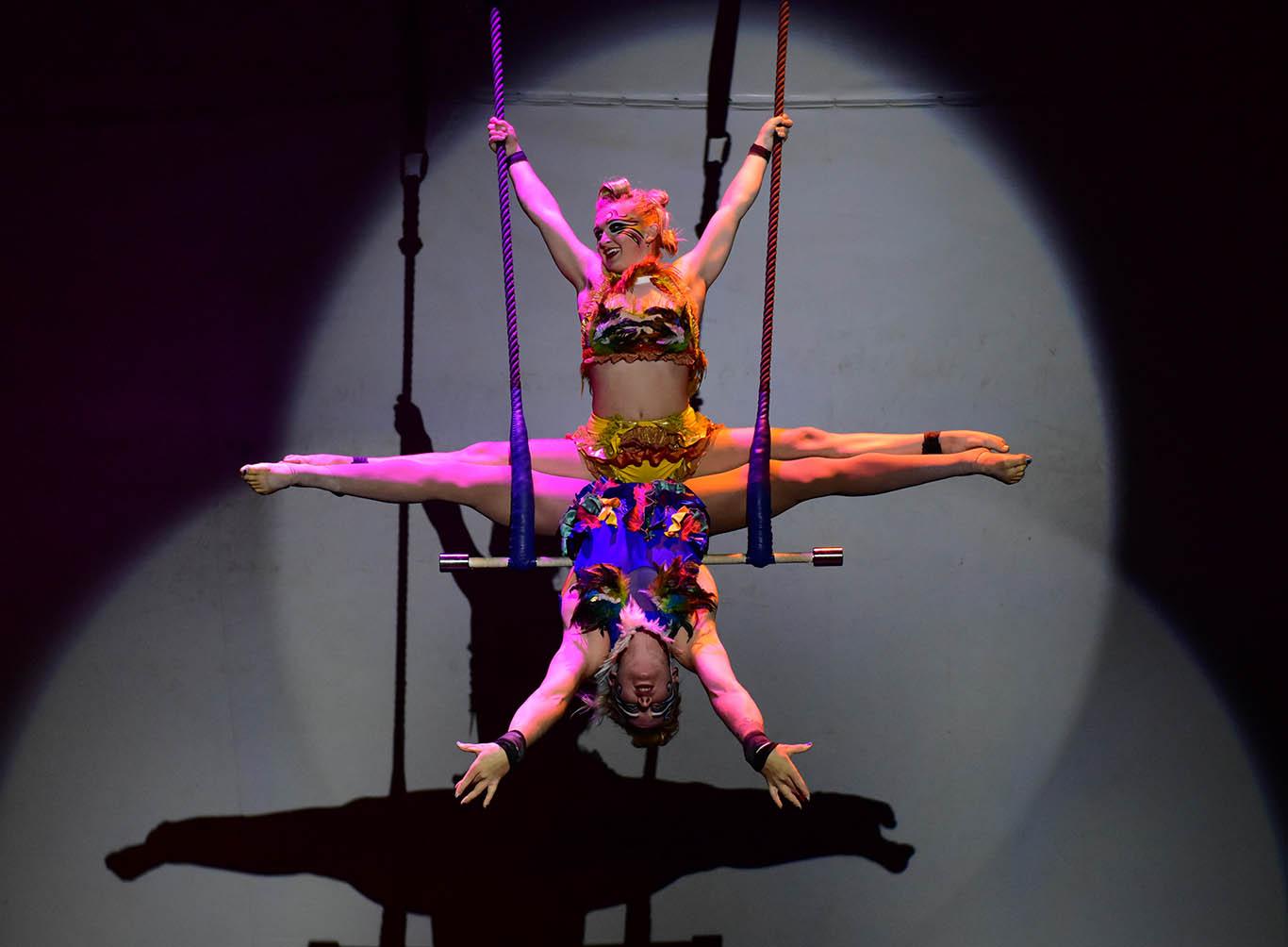 The two jessicas at Karnidale festival - Lunar Circus, Karridale, Margaret River, Australia
